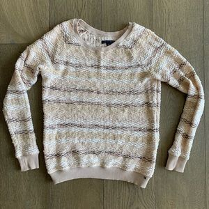American Eagle Pink and Brown Knit Sweater